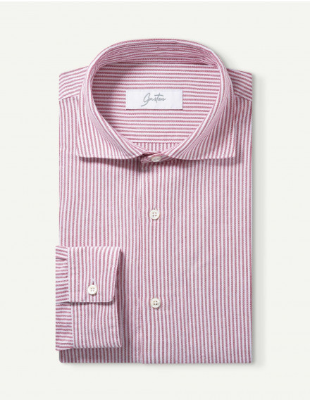 Chemise Gaston Contemporaine oxford rouge