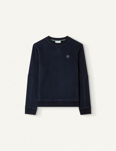 Sweat Briac Molleton bleu