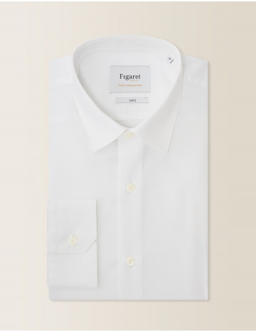 Chemise Prestige Contemporaine en oxford blanc