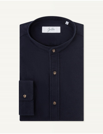 Chemise Gaston Contemporaine en oxford marine